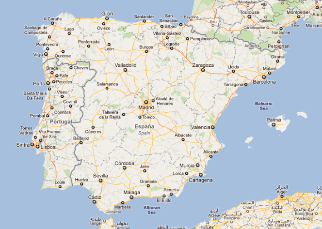 spain google maps