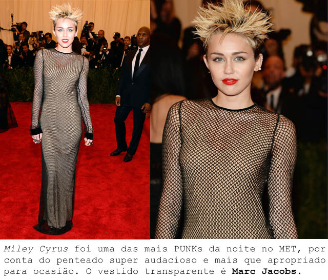 MET BALL 2013-ALTA COSTURA PUNK-Miley Cyrus-vestido Marc Jacobs