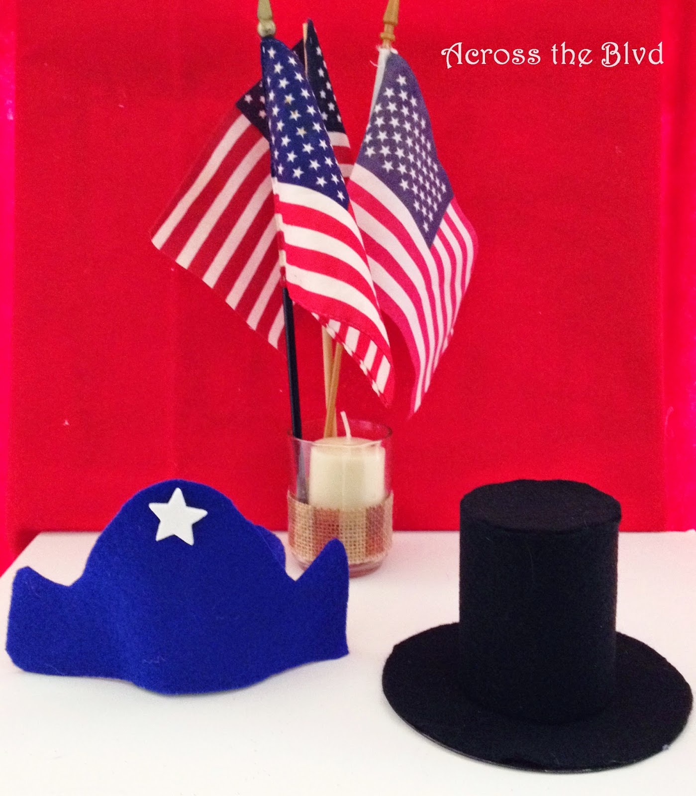 President's Day Miniature Felt Hats