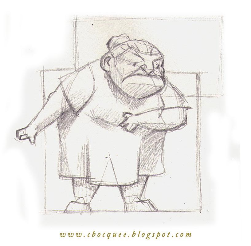 Character design process of a hag