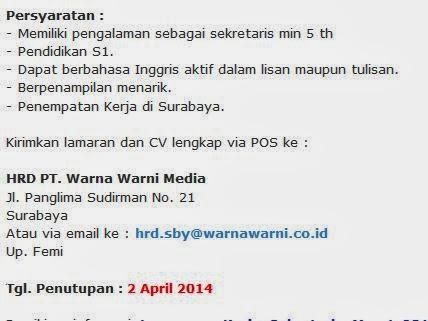 lowongan-kerja-sekretaris-terbaru-surabaya-maret-2014