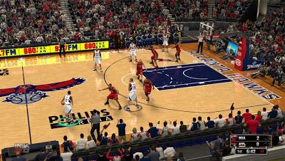 NBA 2K13 Atlanta Hawks Court Patch