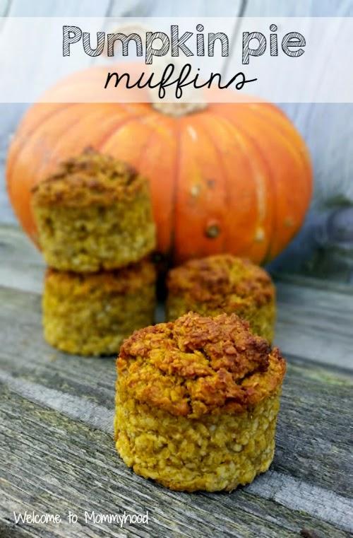 Pumpkin pie muffins by Welcome to Mommyhood #easyhealthyrecipes #PumpkinPieMuffins, #healthytoddlermeals