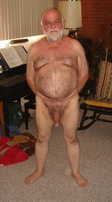Hairy Chest Grandpa Naked Older Papi Gay
