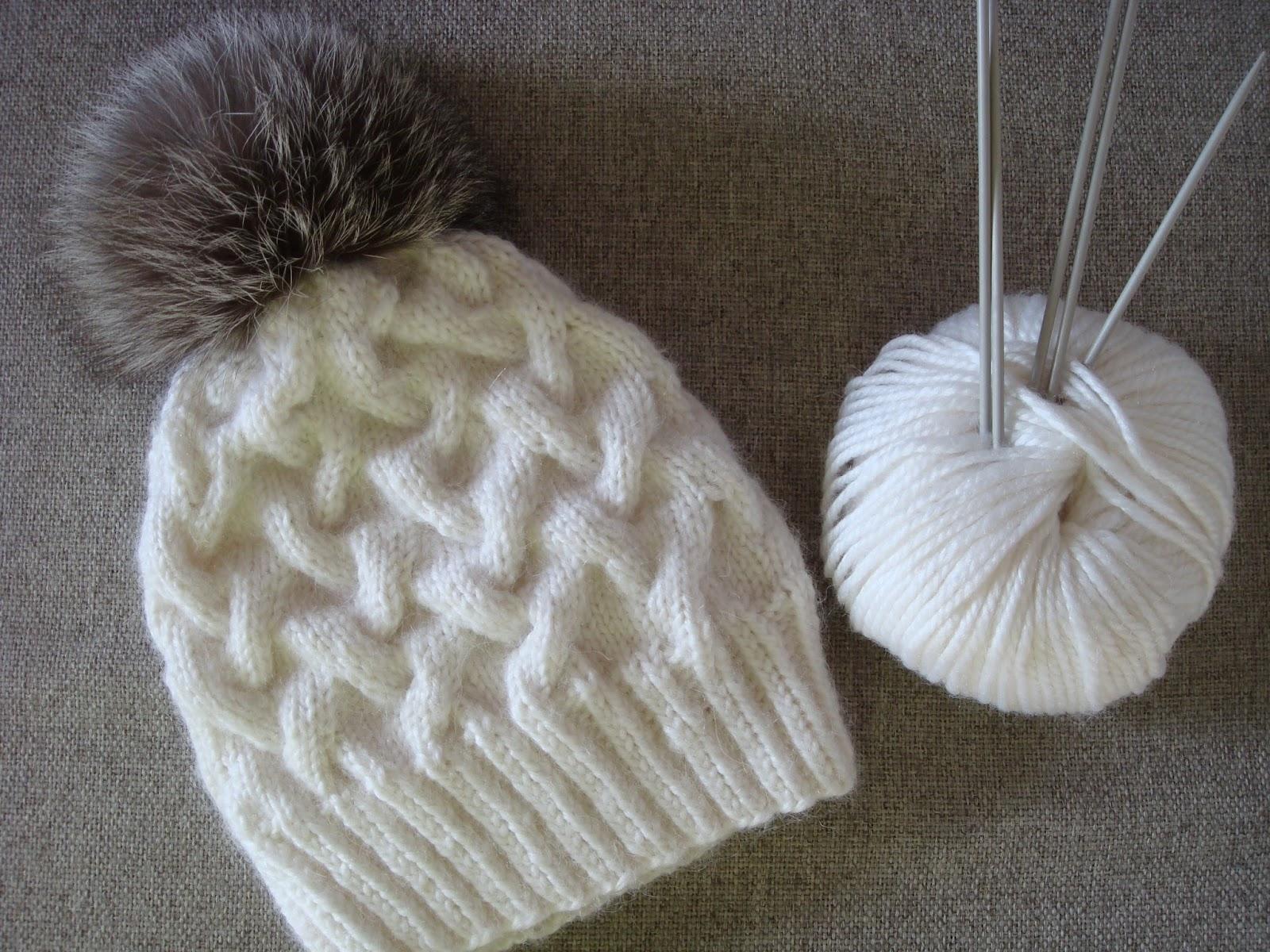 Knitting Hats : Amurushka my winter cable knit hat