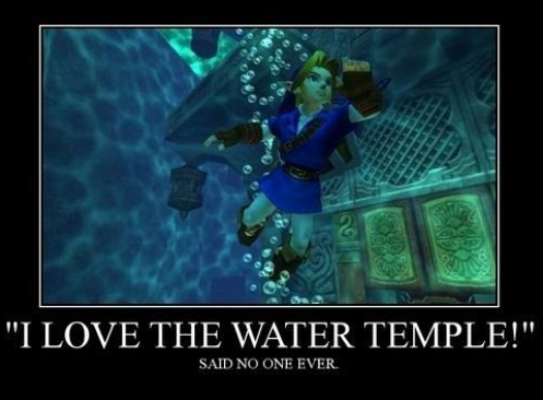 Meme about the overly complicated Water Temple from Zelda: Ocarina of Time