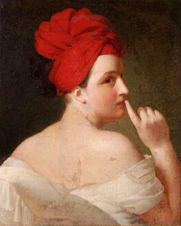 La Discrétion - Portrait of Pauline Appert, french peintre (b1810)