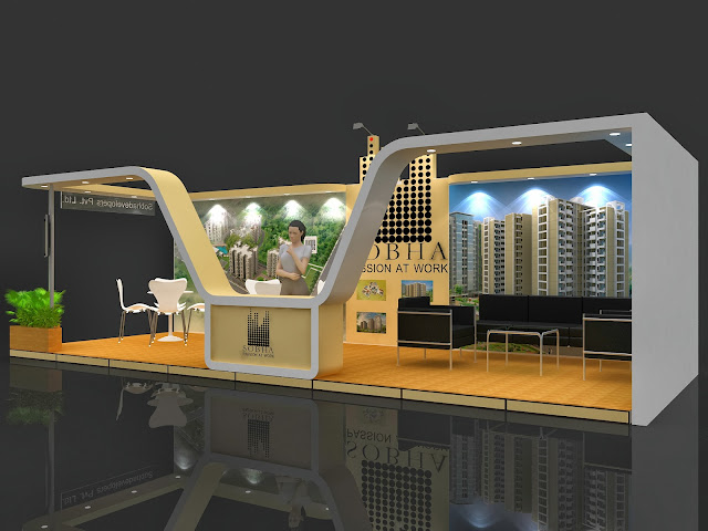 Property Exhibition Stall Design : Shoba stall design property expo bangalore amit chand