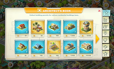 rising cities game's building menu