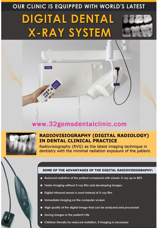 Our Clinic is Equipped with World Latest Digital Dental X-Ray System...................  www.32gemsdentalclinic.com