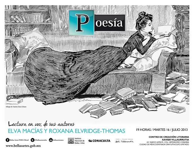 """El ciclo """"Poesía, en voz de sus autoras"""" presenta a Elva Macías y Roxana Elvridge-Thomas en el CCLXV"""