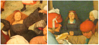 Close-up of Brides in Bruegel's paintings