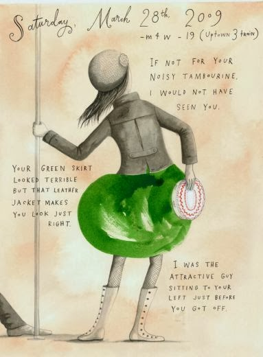 Missed connection, Sophie Blackall, illustratore metro New York
