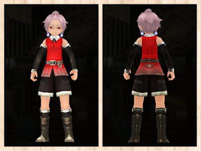 冒険者の服・赤1・男・軽量化