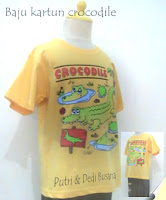 baju kartun motif crocodile