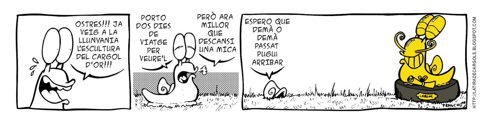 Tira comica 128 del webcomic Cargols del dibuixant Franchu de Barcelona