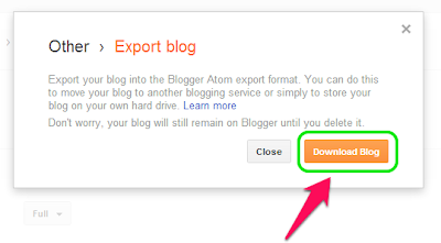 How to Download Blogger Posts and Comments 4