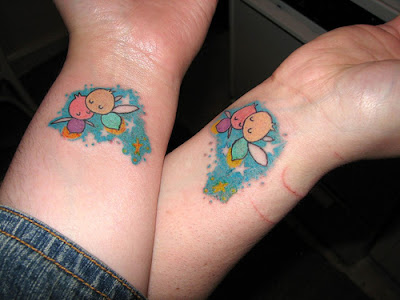 Wonderful Matching Couple Tattoos