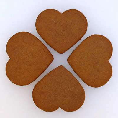 Pogens Inspired Gingersnap Heart Cookies