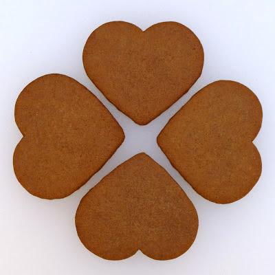 Pogens Inspired Gingersnap Heart Cookies