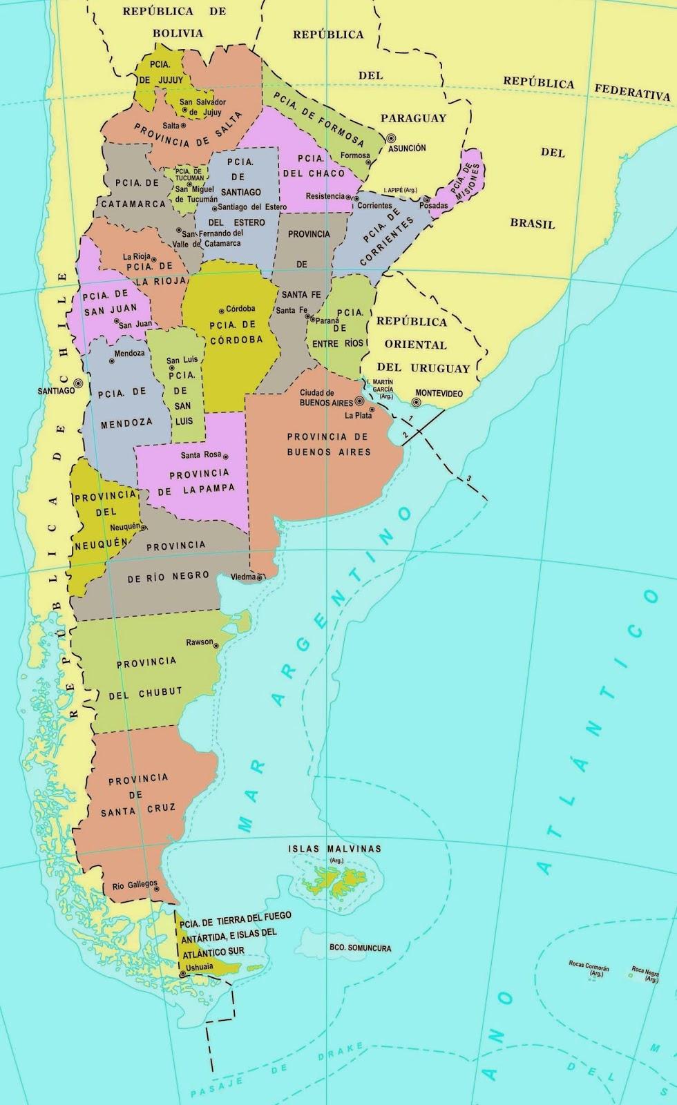 Argentina Mapa Das Estradas - Argentina mapa