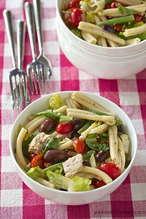 pasta salad nicoise - a modern riff on the classic composed salad