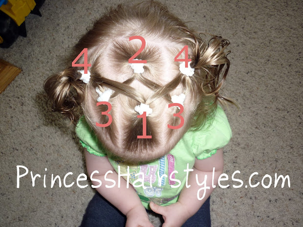 baby hairstyles - criss cross pigtails
