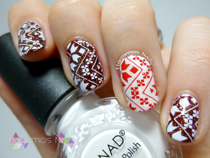 Nail Art Estampado Navideño Konad. Hagamos Nails