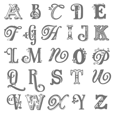 P Alphabet In Love onto whisper white card using the brilliant broadsheet alphabets ...