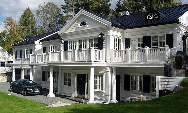 Henrik Och Malins Husprojekt New England Fr N Ett Tomt