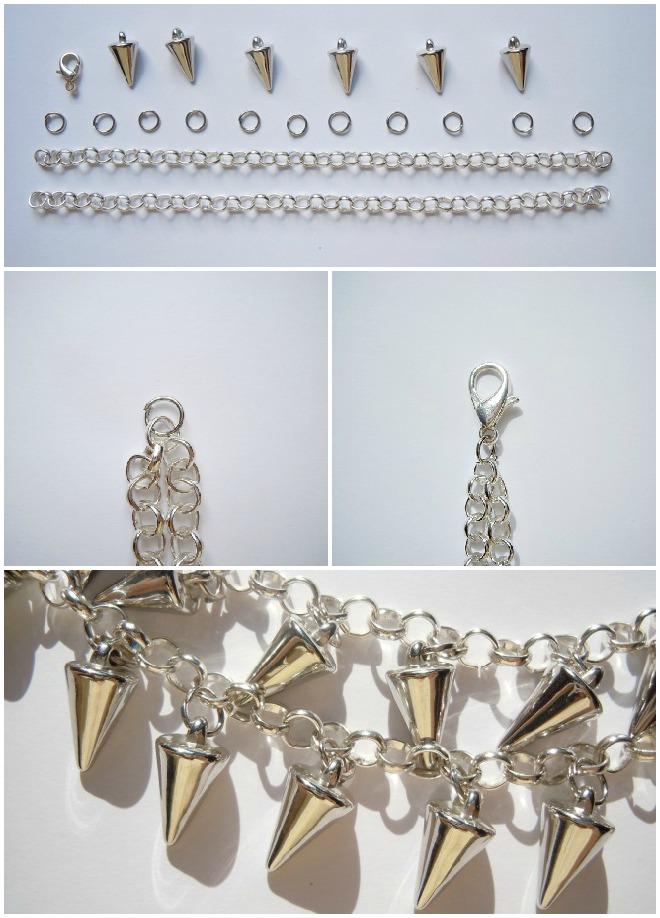 spiked-bracelet-diy-spikes-handmade-chain-pulsera-tachuelas-cadenas