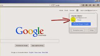 Klik menu akun google kita