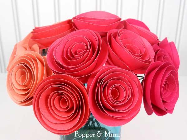 Ombre Paper Flower Tutorial | popperandmimi.com