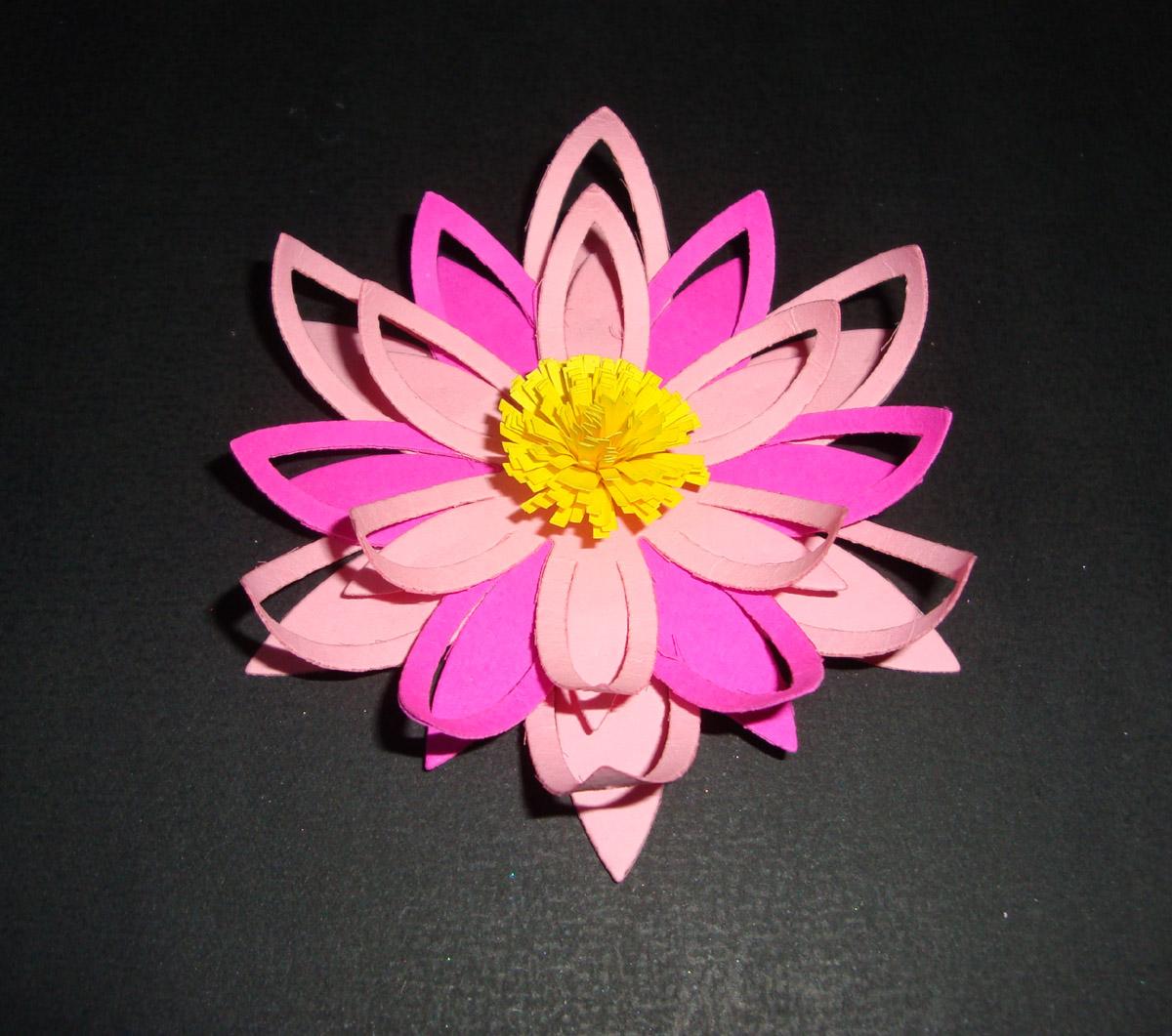 I Love Craft Punch Lotus Flower Card