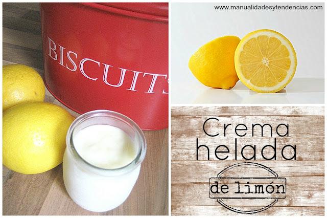 Cómo hacer crema helada de limón