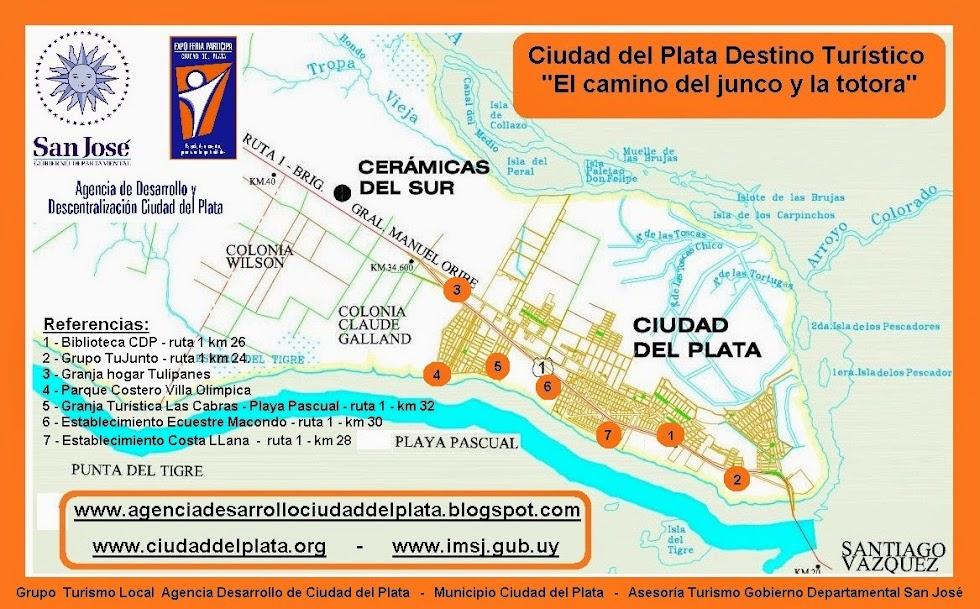 """Información general del """"Camino del Junco y la Totora"""". Grupo Trabajo Local de Turismo de CDP"""