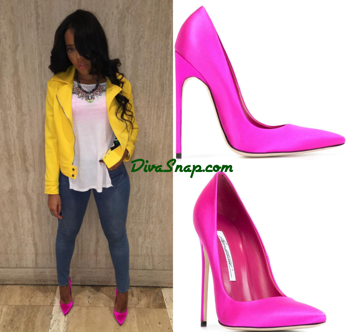 SHOE DIVA: ANGELA SIMMONS SLIPPED IN A PAIR OF HAUTE PINK BRAIN ATWOOD  SATIN PUMPS TO ATTEND BROTHER JOJO SIMMONS U0026 GF BABY SHOWER ...{Photos}