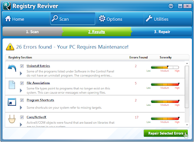 تحميل برنامج Registry Reviver 2013 مجانا لاصلاح وتنظيف الريجستري