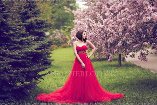 фотосет в красном платье