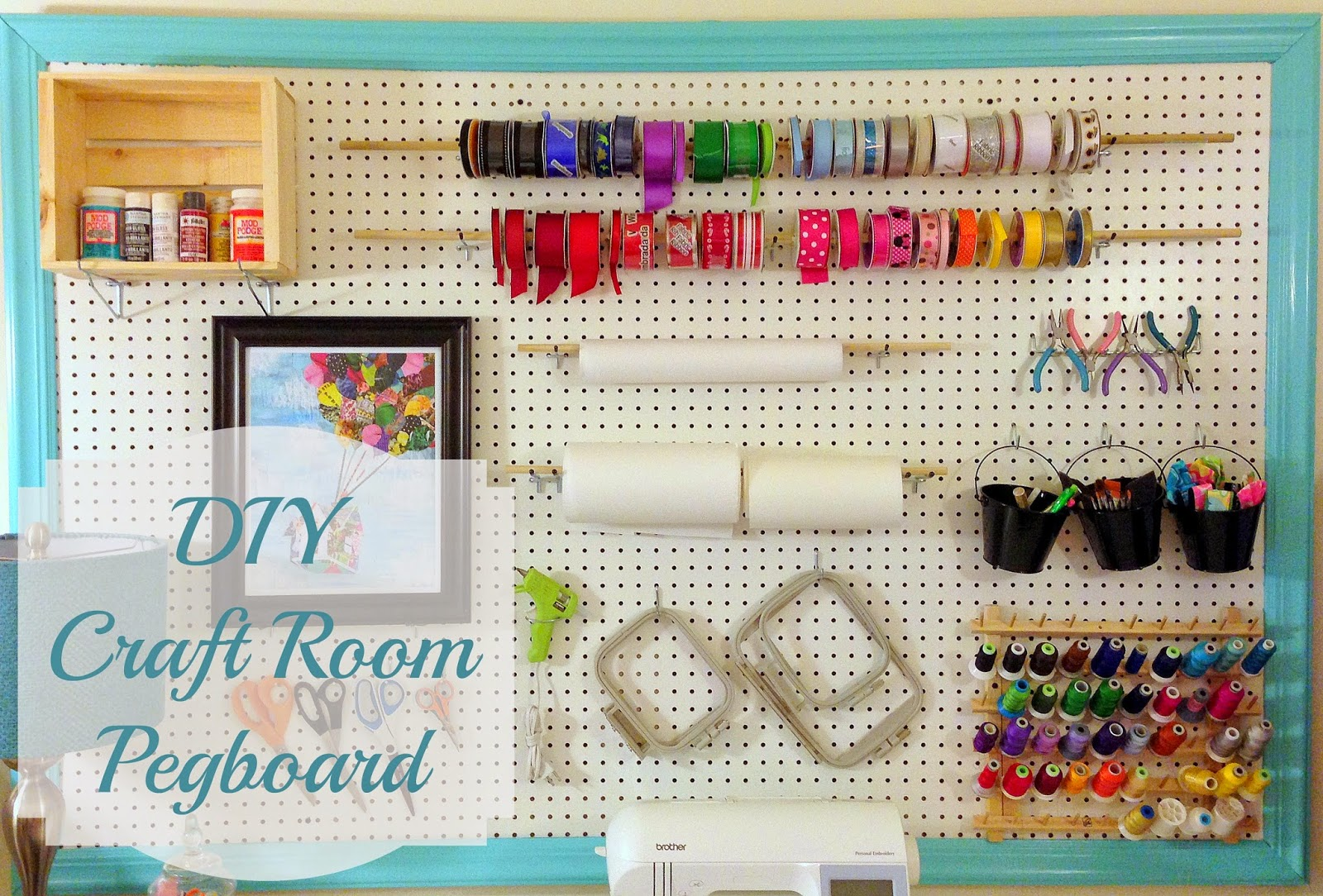 A little bolt of life diy craft room pegboard for Craft room pegboard accessories