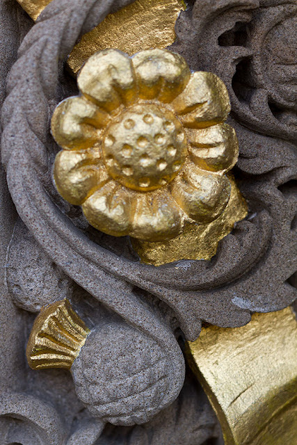 All That Glitters Can Be Gold - detail from Queens Gallery arch