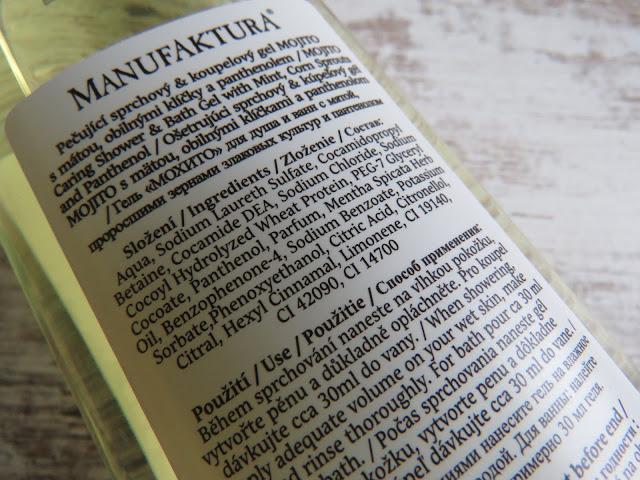 MANUFAKTURA Mojito sprchový a kúpeľový gél - ingredients