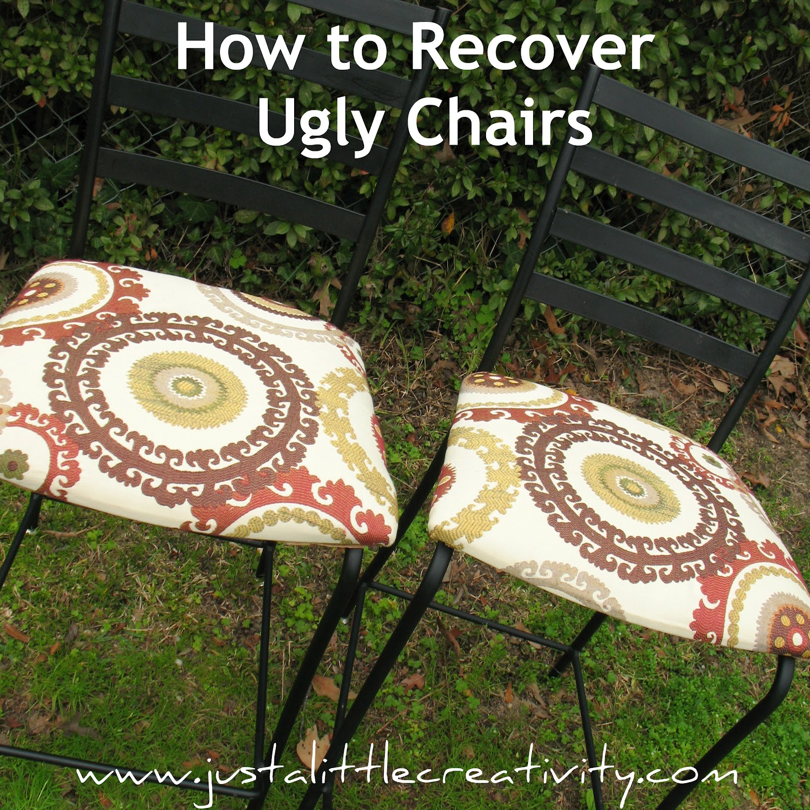 How To Recover Ugly Chairs {Trash To Treasure DIY}