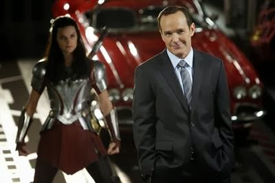 Clark Gregg and Jaimie Alexander in Agents of S.H.I.E.L.D.