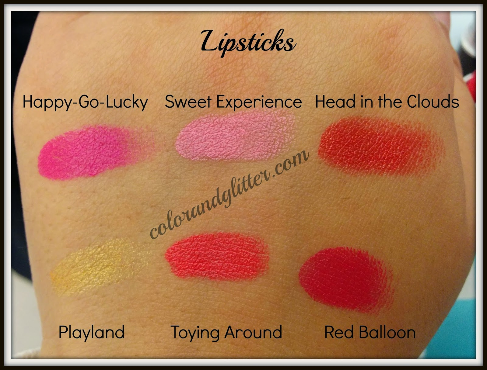 M·A·C Playland collection Lipsticks Swatches