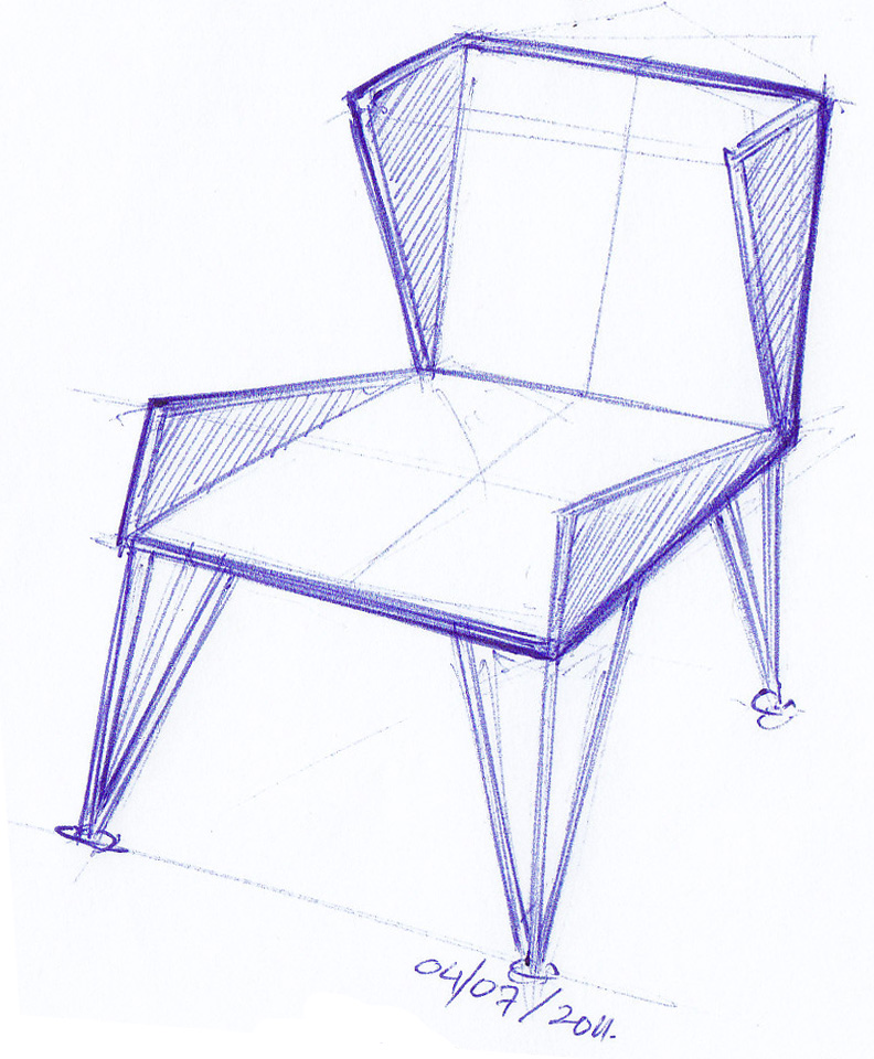 123   Geometric Chair   1001 chair sketches