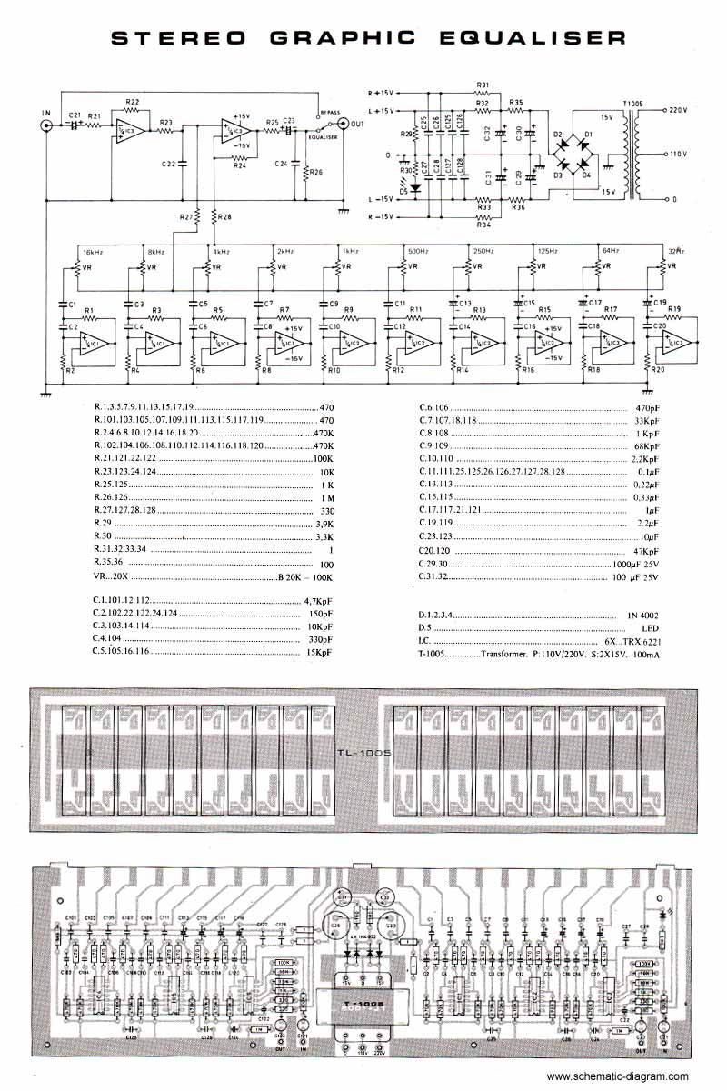 7 Band Equalizer Wiring Diagram | Wiring Liry  Band Equalizer Circuit Diagram on