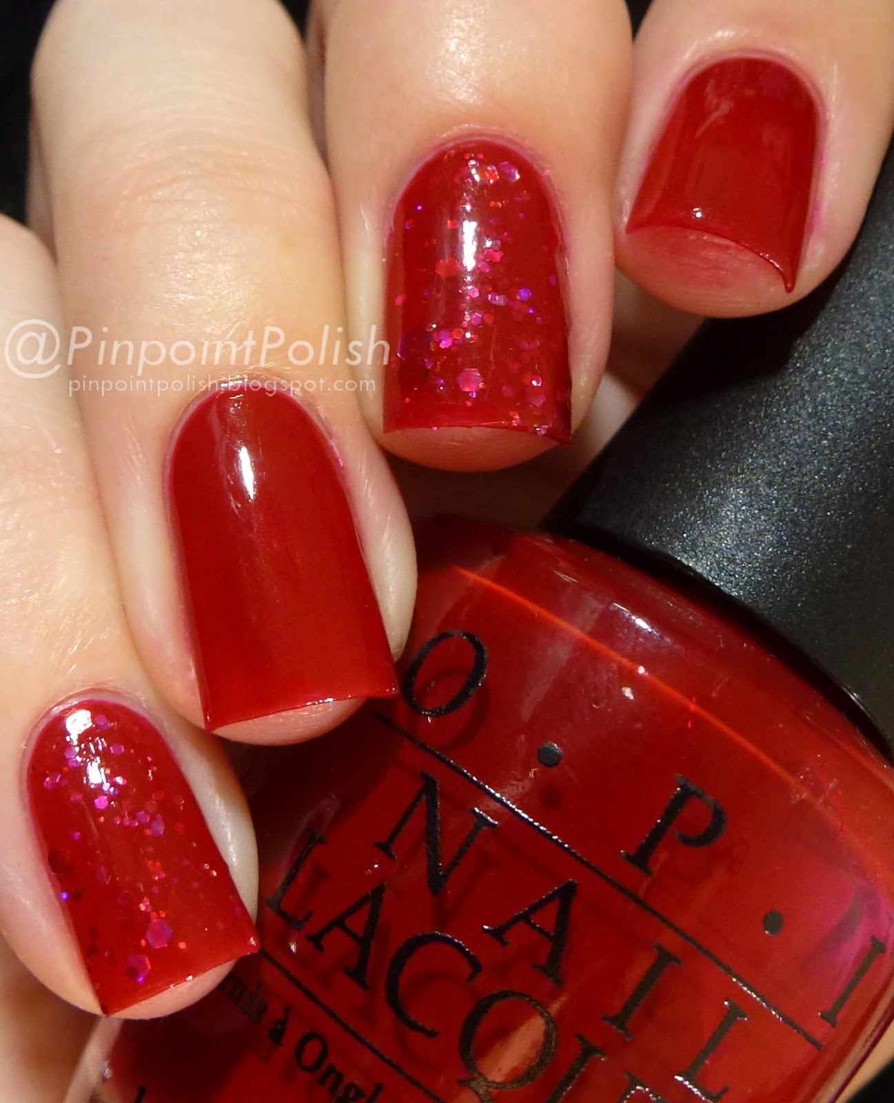 OPI Vodka & Caviar, CrowsToes Maxxed Out, Jelly sandwich, swatch