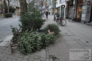 Schanzenstraße - Radwegwinterdeko