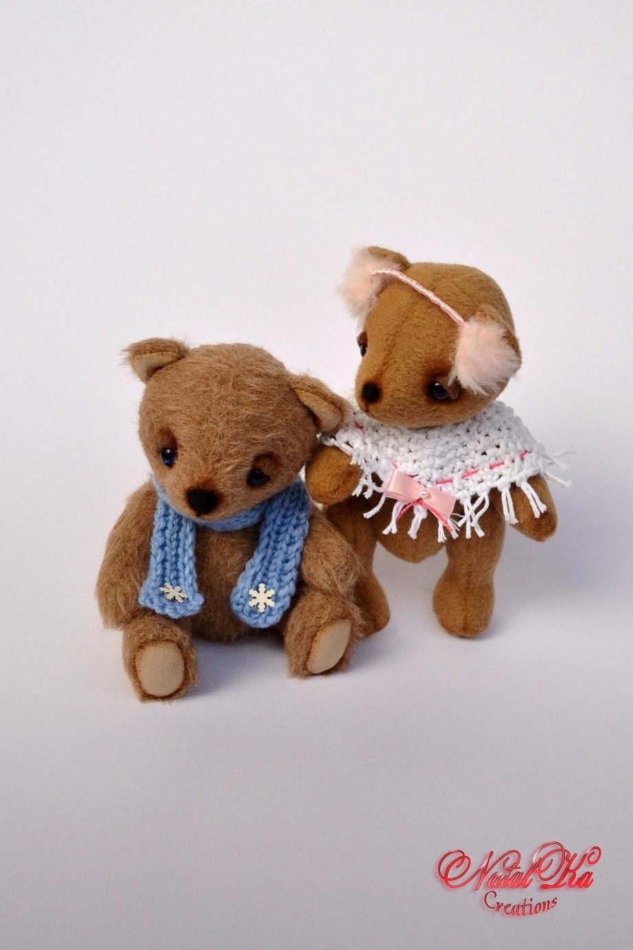 Авторские текстильные мишки тедди от NatalKa Creations